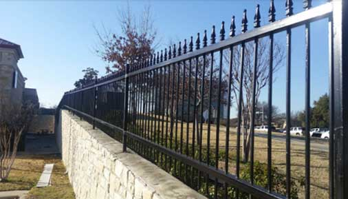 metal iron fences