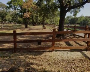 ranch style live stock fences